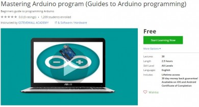 Udemy Coupon – Mastering Arduino program (Guides to Arduino programming)