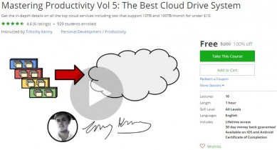 Udemy Coupon – Mastering Productivity Vol 5: The Best Cloud Drive System
