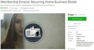 Udemy Coupon – Membership Empire: Recurring Home Business Model