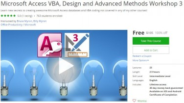 Udemy Coupon – Microsoft Access VBA, Design and Advanced Methods Workshop 3