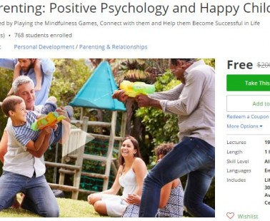 Udemy Coupon – Mindful Parenting: Positive Psychology and Happy Children