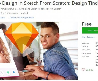 Udemy Coupon – Mobile App Design in Sketch From Scratch: Design Tinder App