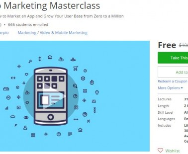 Udemy Coupon – Mobile App Marketing Masterclass