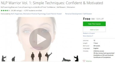 Udemy Coupon – NLP: Simple Techniques Confident Motivated – Warrior Vol. 1