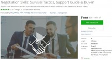 Udemy Coupon – Negotiation Skills: Survival Tactics, Support Guide & Buy-in