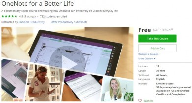 Udemy Coupon – OneNote for a Better Life
