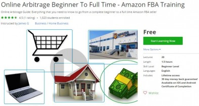 Udemy Coupon – Online Arbitrage Beginner To Full Time – Amazon FBA Training