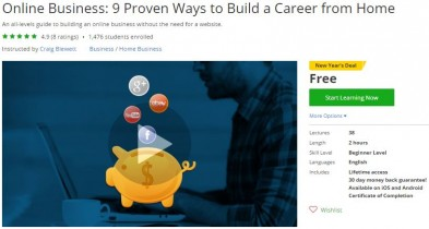 Udemy Coupon – Online Business: 9 Proven Ways to Build a Career from Home