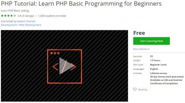 Udemy Coupon – PHP Tutorial: Learn PHP Basic Programming for Beginners