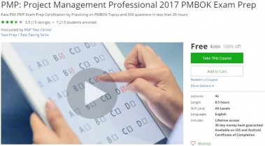 Udemy Coupon – PMP: Project Management Professional 2017 PMBOK Exam Prep