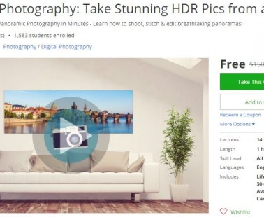 Udemy Coupon – Panorama Photography: Take Stunning HDR Pics from any Camera