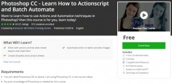 Udemy Coupon – Photoshop CC – Learn How to Actionscript and Batch Automate