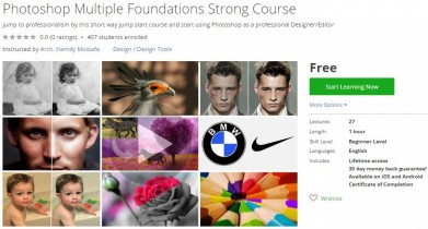 Udemy Coupon – Photoshop Multiple Foundations Strong Course