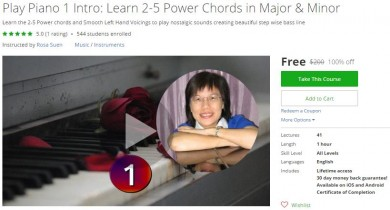 Udemy Coupon – Play Piano 1 Intro: Learn 2-5 Power Chords in Major & Minor