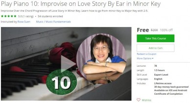 Udemy Coupon – Play Piano 10: Improvise on Love Story By Ear in Minor Key