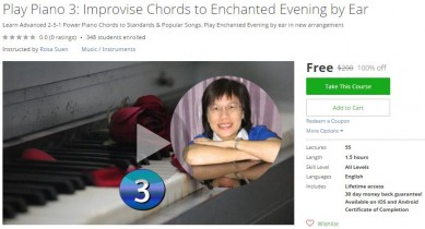 Udemy Coupon – Play Piano 3: Improvise Chords to Enchanted Evening by Ear