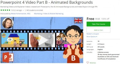 Udemy Coupon – Powerpoint 4 Video Part B – Animated Backgrounds