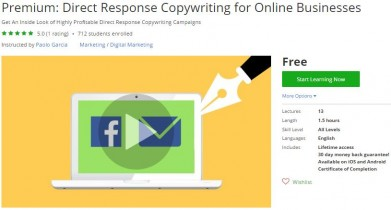 Udemy Coupon – Premium: Direct Response Copywriting for Online Businesses