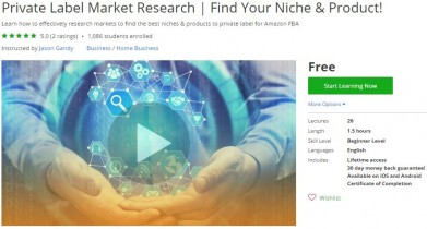 Udemy Coupon – Private Label Market Research | Find Your Niche & Product!
