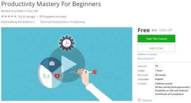 Udemy Coupon – Productivity Mastery For Beginners