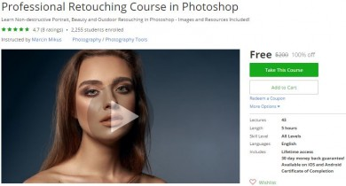 Udemy Coupon – Professional Retouching Course in Photoshop
