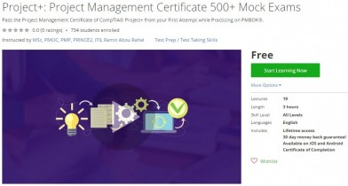 Udemy Coupon – Project+: Project Management Certificate 500+ Mock Exams