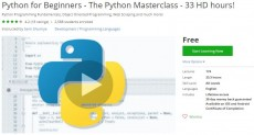 Udemy Coupon – Python for Beginners – The Python Masterclass – 33 HD hours!