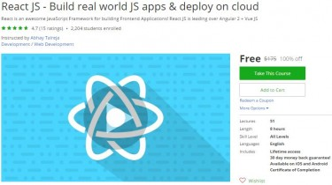 Udemy Coupon – React JS – Build real world JS apps & deploy on cloud