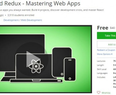 Udemy Coupon – React JS and Redux – Mastering Web Apps