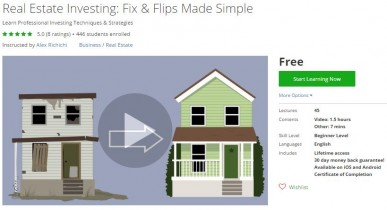 Udemy Coupon – Real Estate Investing: Fix & Flips Made Simple