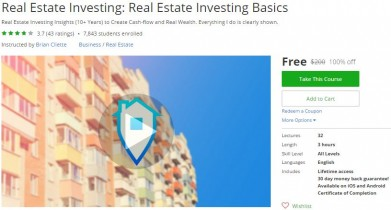 Udemy Coupon – Real Estate Investing: Real Estate Investing Basics