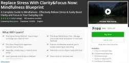 Udemy Coupon – Replace Stress With Clarity&Focus Now: Mindfulness Blueprint