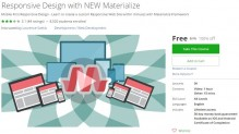 Udemy Coupon – Responsive Design with NEW Materialize