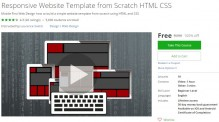 Udemy Coupon – Responsive Website Template from Scratch HTML CSS