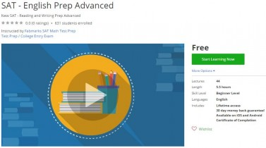 Udemy Coupon – SAT – English Prep Advanced