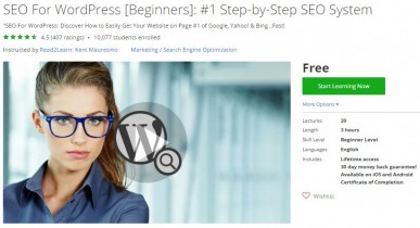 Udemy Coupon – SEO For WordPress [Beginners]: #1 Step-by-Step SEO System