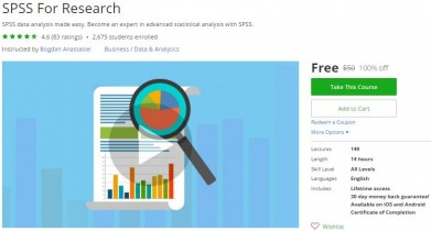 Udemy Coupon – SPSS For Research