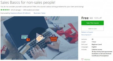 Udemy Coupon – Sales Basics for non-sales people!