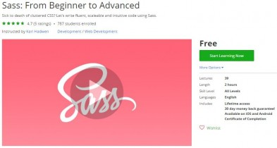 Udemy Coupon – Sass: From Beginner to Advanced