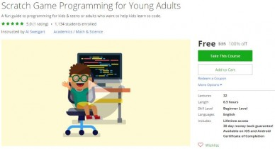 Udemy Coupon – Scratch Game Programming for Young Adults