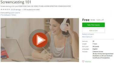Udemy Coupon – Screencasting 101