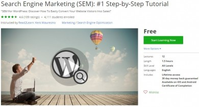 Udemy Coupon – Search Engine Marketing (SEM): #1 Step-by-Step Tutorial