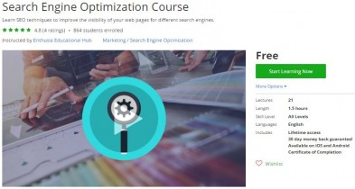 Udemy Coupon – Search Engine Optimization Course