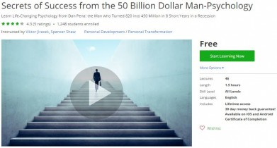 Udemy Coupon – Secrets of Success from the 50 Billion Dollar Man-Psychology