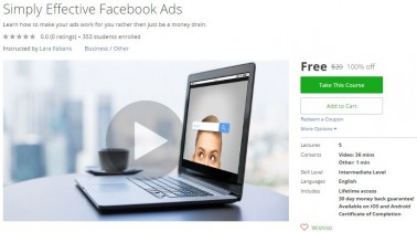 Udemy Coupon – Simply Effective Facebook Ads