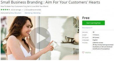 Udemy Coupon – Small Business Branding : Aim For Your Customers' Hearts
