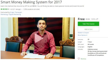 Udemy Coupon – Smart Money Making System for 2017