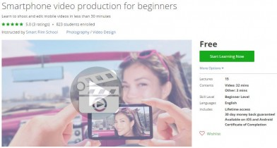 Udemy Coupon – Smartphone video production for beginners