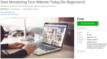 Udemy Coupon – Start Monetizing Your Website Today (for Beginners)!