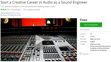 Udemy Coupon – Start a Creative Career in Audio as a Sound Engineer